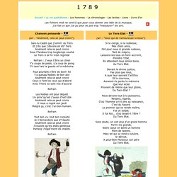 Les chants - 1789