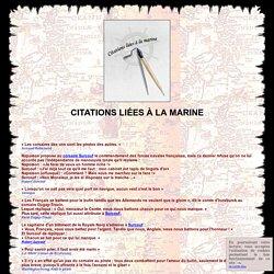 Les citations liées à la marine