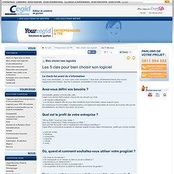 Les 5 clés pour bien choisir son logiciel - La check list avant de s'informatiser - Cegid : logiciel et progiciel de gestion TPE et PE