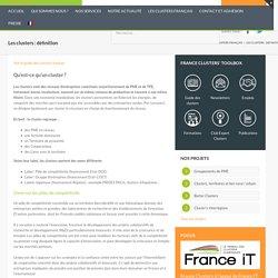 Les clusters : définition – France Clusters
