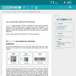 Les codes QR, aspects techniques