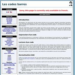 Les codes barres, et pays système EAN