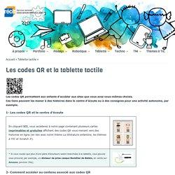 Les codes QR et la tablette tactile