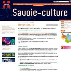 [Département de la Savoie] - Artistes au collège