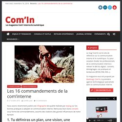 Les 16 commandements de la com'interne - Com'In