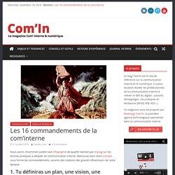 Les 16 commandements de la com'interne - Com'In