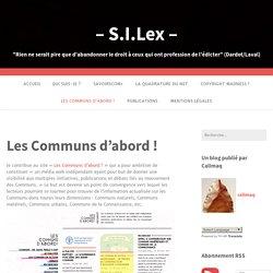 Les Communs d'abord ! – – S.I.Lex –