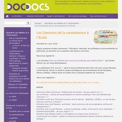 Communs de la connaissance à l'Ecole_ Docspourdoc