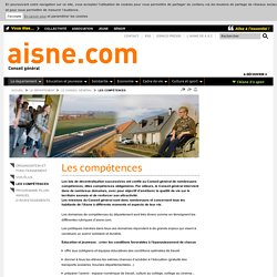 Les compétences - Aisne