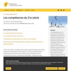 Les compétences du 21e siècle - L'Observatoire - OCE