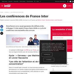 France Inter Les clés de l'attention et de la concentration 2019