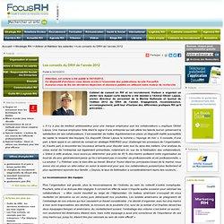 Les conseils du DRH de l'année 2012