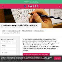 Les conservatoires de la Ville de Paris