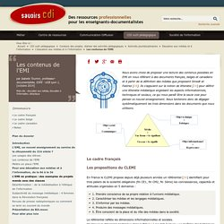 Savoirs CDI: Les contenus de l'EMI