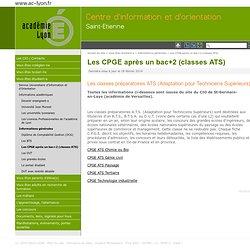 Les CPGE après un bac+2 (classes ATS) - [CIO Saint-Etienne]