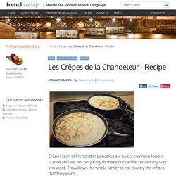 Les Crêpes de la Chandeleur - Recipe