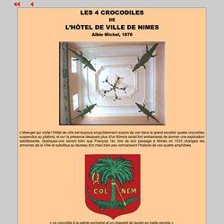 LES 4 CROCODILES DE LA VILLE DE NIMES