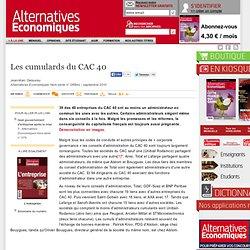 Les cumulards du CAC 40