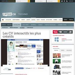Carrière web - Les CVs 2.0 les plus créatifs