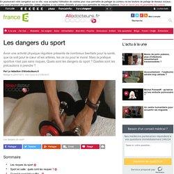 Les dangers du sport