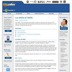Les débits et l'ADSL