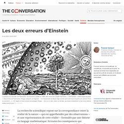 Lesdeux erreurs d'Einstein