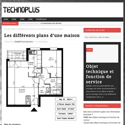 Les différents plans d'une maison