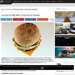 Les différents prix du Big Mac dans le monde