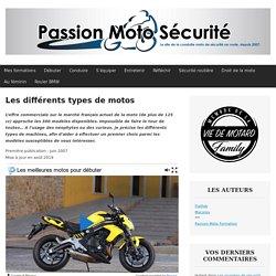 Les différents types de motos