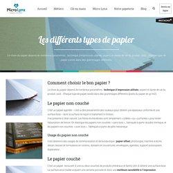 Les différents types de papier
