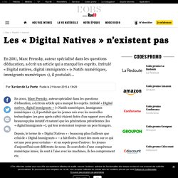 Les «Digital Natives» n'existent pas