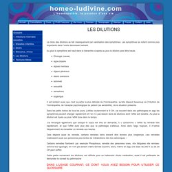Les dilutions