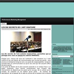 LES DIX SECRETS DE L'ART ORATOIRE