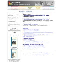 Les dossiers de WebLettres