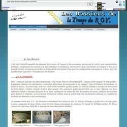Les Dossiers de La Troupe du ROY - Les décors