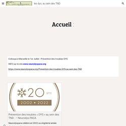 """LES """"DYS"""" : un site consacré aux troubles des apprentissages"""