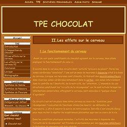 II.Les effets sur le cerveau - TPE CHOCOLAT