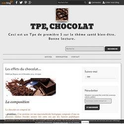Les effets du chocolat... - TPE, chocolat