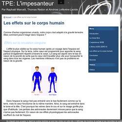 Les effets sur le corps humain - TPE: L'impesanteur
