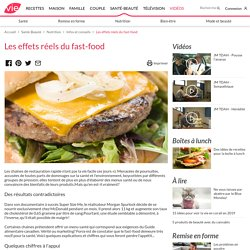 Les effets réels du fast-food
