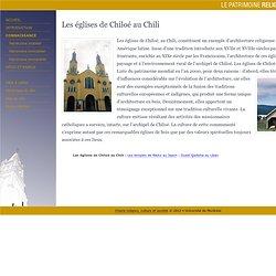 Les églises de Chiloé au Chili