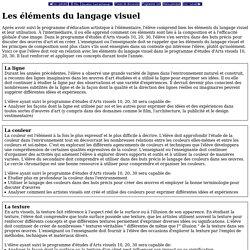 Les elements du langage visuel