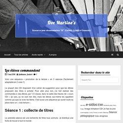 Les élèves commandent – Doc Martine's