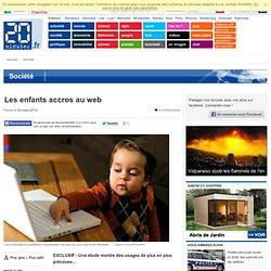 Les enfants accros au web