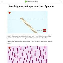 Les énigmes de Lego, avec les réponses