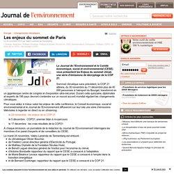 Les enjeux du sommet de Paris