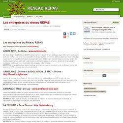 Les entreprises du réseau REPAS - réseau repas