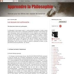 Les époques de la philosophie