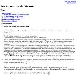 Les équations de Maxwell