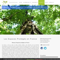 Les Espaces Protégés en France